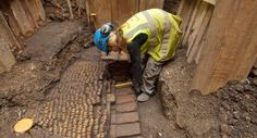 """Very cool!!      """"Archaeologists have unearthed the well-preserved remains of the Curtain Theatre, where Shakespeare's company debuted works such as 'Henry V' and 'Romeo and Juliet' before moving to The Globe."""""""