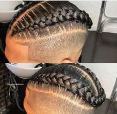 Lovely Afro hairstyles On-trend now Mens Braids Hairstyles, Black Men Hairstyles, Twist Hairstyles, Haircuts For Men, Hairstyle Ideas, Braids With Fade, Braids For Boys, Natural Hair Men, Natural Hair Styles