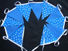 2 meters blue stars and spots party bunting code st