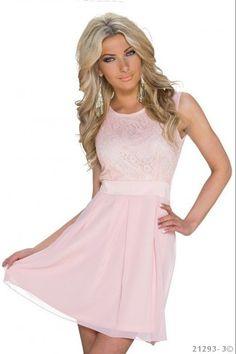 c4bf699658bb Μίνι φόρεμα με δαντέλα - Ανοιχτό Ροζ