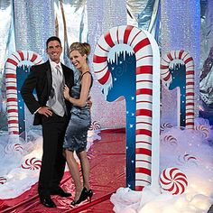 Our Candy Cane Props are a great addition to any Christmas or North Pole themed party or event. Each two-sided candy cane measures 72 inches and is made of sturdy cardboard.