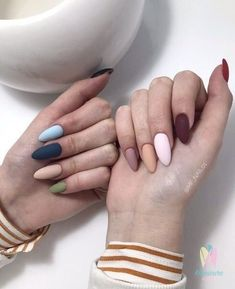 How to choose your fake nails? - My Nails Pastel Nails, Cute Acrylic Nails, Acrylic Nail Designs, Pink Nails, Cute Nails, Pretty Nails, Nail Manicure, Nail Polish, Brown Nails