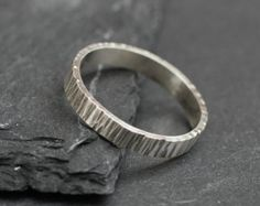 Image result for textured ring Ring Ring, Tree Bark, Wire Jewelry, Jewlery, Handmade Jewelry, Sterling Silver Rings, Rings For Men, Jewelry Making, Wedding Rings