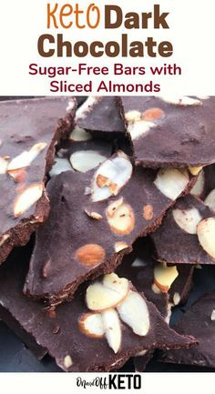 Home Made Doggy Foodstuff FAQ's And Ideas Ever Tried Making Your Own Keto Chocolate Bars? These Keto Chocolate Fat Bombs Are Divine Try These Dark Chocolate Fat Bombs With Sliced Almonds That Have Less Than Of Carbs Per Piece. Low Carb Chocolate Is Here Low Carb Desserts, Low Carb Recipes, Dessert Recipes, Healthy Recipes, Healthy Food, Healthy Eating, Candy Recipes, Diabetic Recipes, Lunch Recipes