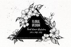 Floral Design collection. Flowers, leaves, wreaths, frames (31837)   Illustrations   Design Bundles