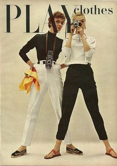Play Clothes - 1954 Charm Magazine. These outfits right down to the shoes could be worn today.