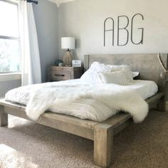 DIY Queen Bed Free Plans
