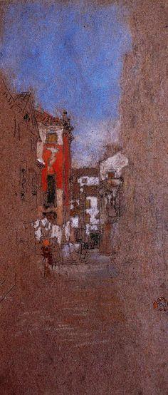 SAN TROVASO STREET (Venice) | artist James Abbott McNeill Whistler