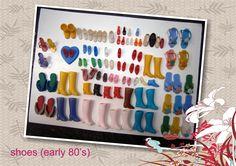33 PARES DE ZAPATOS COMPLETOS + 29 sueltos. Botas , chinelas, ojotas, sandalias, pantuflas,zapatillas, zapatillas de baile,tacos altos,botas para nieve etc