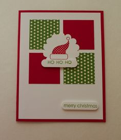 www.heathertrimble.stampinup.net Christmas Card - Handmade - blank inside. $4.00, via Etsy.