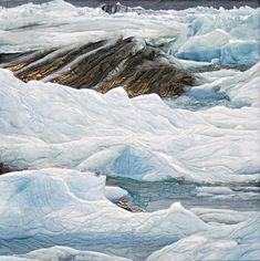 'Meltdown II' fine art quilt by Sandra Meech - Connections Fibre Artists Art Textile, Textile Artists, Landscape Art Quilts, Textiles, Thread Painting, Machine Quilting, Quilting Designs, Fiber Art, Amazing Art