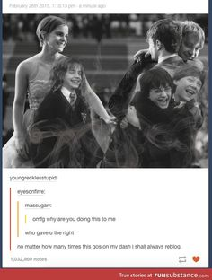 Harry, Ron, and Hermione Hermione, Draco, Hogwarts, Slytherin, Harry Potter Sad, Harry Potter Universal, James Potter, Daniel Radcliffe, Golden Trio