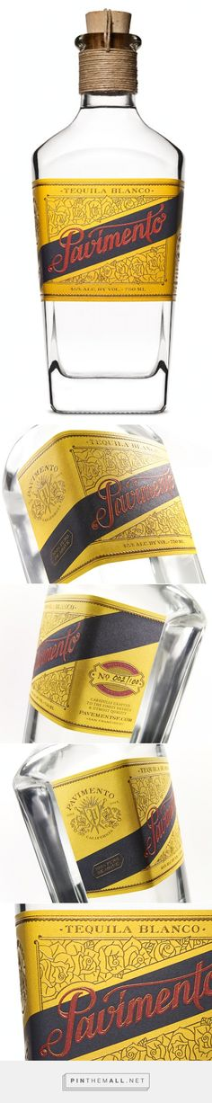 Pavimento #Tequila #packaging designed by Pavement - http://www.packagingoftheworld.com/2015/05/pavimento-tequila.html