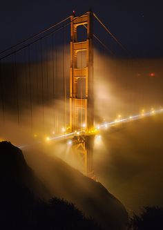 *Golden Gate Bridge in fog and light