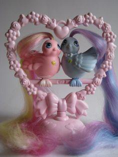 Fairy Tail birds vintage playset by Siri_Mae_doll, via Flickr