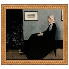 Design Toscano Portrait of the Artist's Mother, 1871 by James Abbott McNeill Whistler Framed Painting Print Size: