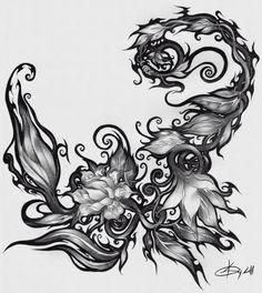 Flower Scorpion Tattoo                                                                                                                                                                                 More