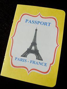 .Oh Sugar Events: Madeline Birthday Party passport invitation