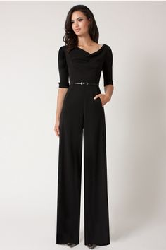 Need this in my life!! 3/4 Sleeve Jackie Jumpsuit