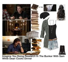 """Imagine You Doing Research In The Bunker With Sam While Dean Cooks Dinner"" by alyssaclair-winchester ❤ liked on Polyvore featuring KING, C.R.A.F.T., Rustico, Warehouse, Fat Face, Miss Selfridge, Diesel, imagine, supernatural and samwinchester"