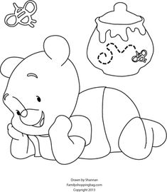 Coloring Page, Winnie The Pooh, Coloring Pages - Free Printable Ideas from Family Shoppingbag.com