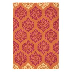 Gala Rug in Paprika (floral Pattern, Rug Sample) | Handmade Area Rugs from Company C (New)