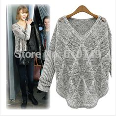 Free Shipping 2016 Fashion Plus Size Women Brand Shirt Bat Long Sleeve Crochet V Neck Hollow Out Loose Ladies Summer Tops