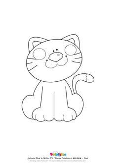 Click Image for more Cat Color Applique Templates, Applique Patterns, Applique Designs, Embroidery Applique, Cat Quilt, Sewing Appliques, Felt Patterns, Cat Crafts, Cat Pattern