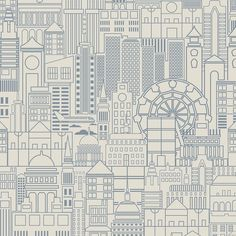"You'll love the London Town Removable 5' x 20"" Scenic Wallpaper at Wayfair - Great Deals on all Décor & Pillows products with Free Shipping on most stuff, even the big stuff."