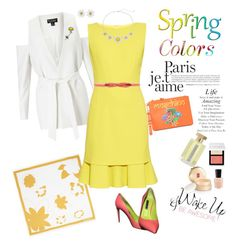 """Sunny Spring Time"" by ellie366 ❤ liked on Polyvore featuring Max&Co., Elizabeth Arden, Miss Selfridge, Bobbi Brown Cosmetics, Oscar de la Renta, L'Artisan Parfumeur, Moschino, Weiss, Ralph Lauren and WALL"