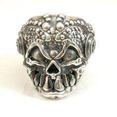 Mens Silver Skull Ring - Steampunk on Etsy, $345.00