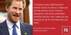 """Prince Harry hopes Invictus Games champions will """"inspire"""" others to seek help for mental illness"""