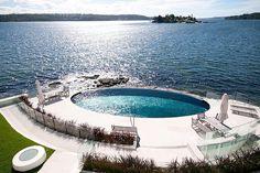 Stunning pool. Sydney's foreshore -  Pimas Gale Construction