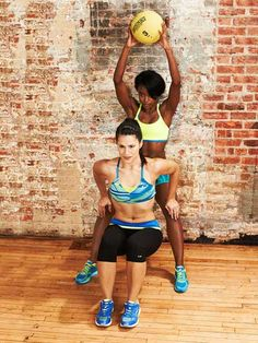 The Squat and Dip #exercise works your butt, legs, shoulders and triceps.