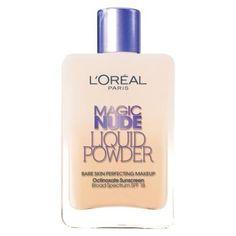 L'Oreal Magic Nude Liquid Powder Foundation ~ 1/6 price makeup dupe of popular Giorgio Armani Maestro Fusion Makeup {Allure magazine award winner} #makeupdupe #makeup #dupes