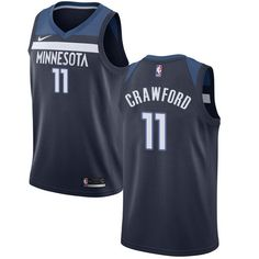 ce55e3061 Nike Timberwolves  11 Jamal Crawford Navy Blue NBA Swingman Icon Edition  Jersey
