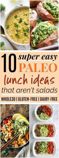 10 Paleo & Whole30 Lunch Ideas that Aren't Salads | These paleo lunch ideas look SO amazing! I really needed some paleo lunch ideas because I'm tired of eating the same things all the time. I love that all of these paleo lunch recipes are easy to make and none of them are salads! Plus, all of them are Whole30, gluten-free, grain-free, and dairy-free. Definitely pinning for later! #paleo #whole30 #paleorecipes #whole30recipes
