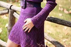 вязанные платья и ткани в сиреневом