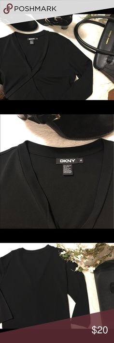 DKNY Top Beautiful tie closure, allows it to be dressed up or down! Worn once to an office meeting. DKNY Tops