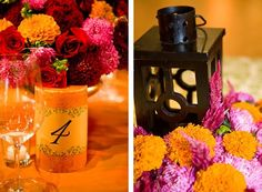 indian wedding candle centerpieces