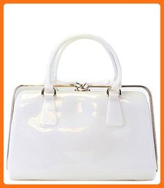 Melie Bianco Jelly Satchel (White) - Top handle bags (*Amazon Partner-Link)