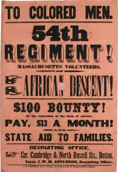 file with Saint Gaudens 54 th regiment poster