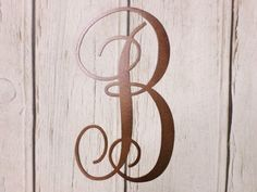 "Plasma Cut Steel Brown Monogram Letter ""B"" Wall Hanging Decoration Art!  #Unbranded #ArtDecoStyle"