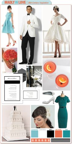 Madly in Love - Mid-Century Inspiration :  wedding color schemes features sales Board2 Madmen 030711b board2_madmen_030711b