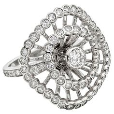 Boucheron Diamond White Gold Ma Jolie Ring | From a unique collection of vintage cocktail rings at http://www.1stdibs.com/jewelry/rings/cocktail-rings/