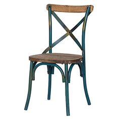 metal chairs - Chairs / Kitchen & Dining Room Furniture: Home & Kitchen Blue Dining Room Chairs, Vintage Dining Chairs, Metal Dining Chairs, Kitchen Chairs, Dining Chair Set, Side Chairs, Bar Furniture, Dining Room Furniture, Dining Rooms