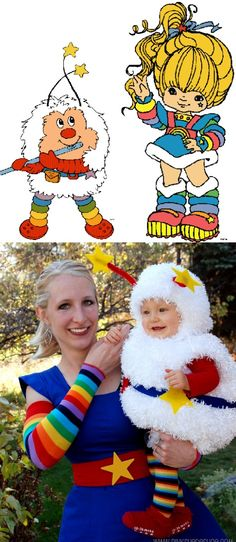 DIY Rainbow Brite and Twink costume!