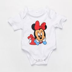 Newborn Baby Girls Clothing Set 3pcs (Romper Hat Pants) Infant Jumpsuits Cartoon Mickey Baby Sets Baby Boys Clothes Roupas Bebes