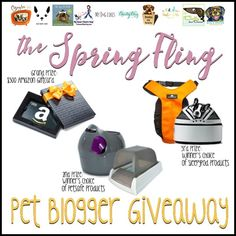 Spring Fling Pet Blogger Giveaway win a $300 Amazon gift card and other great prizes