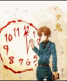 "hetaoni-headcanon: "" ""The only way they can permanently kill the monster is to destroy the clock that Italy used to turn back time."" xenwarrior's Headcanon "" Spamano, Usuk, Trauma, Hetalia Headcanons, Hetaoni, A Series Of Unfortunate Events, Axis Powers, Dark Anime, Me Me Me Anime"